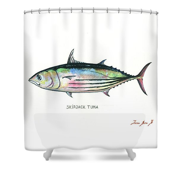 Skipjack Tuna Shower Curtain