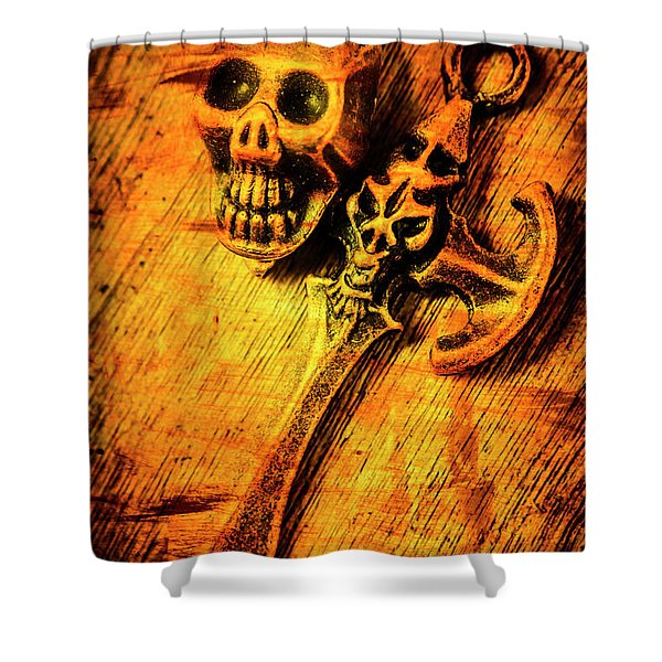 Skull And The Sword Shower Curtain