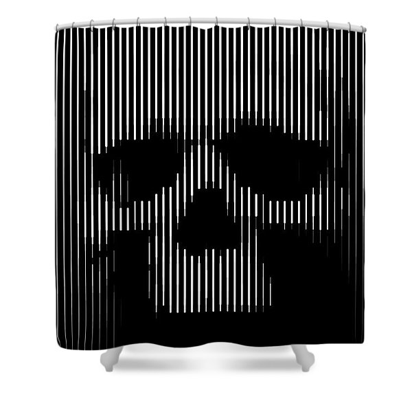 Skull Lines Shower Curtain