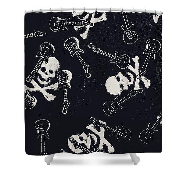 Skull Rockers Art Shower Curtain