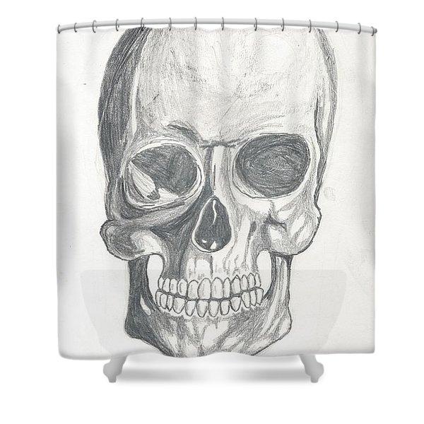 Skull Study 2 Shower Curtain