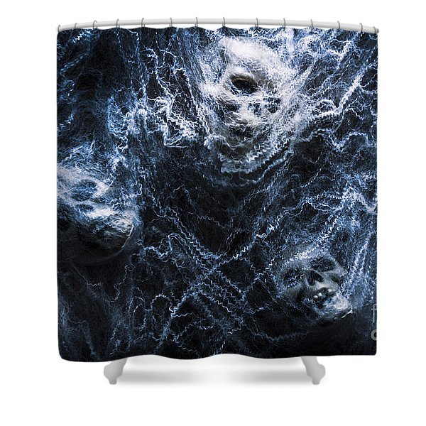 Skulls Tangled In Fear Shower Curtain