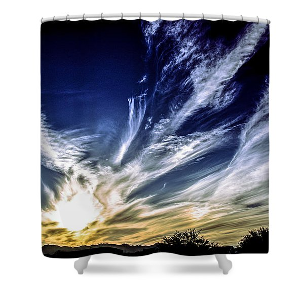 Sky Artistry Over Chandler Arizona Shower Curtain