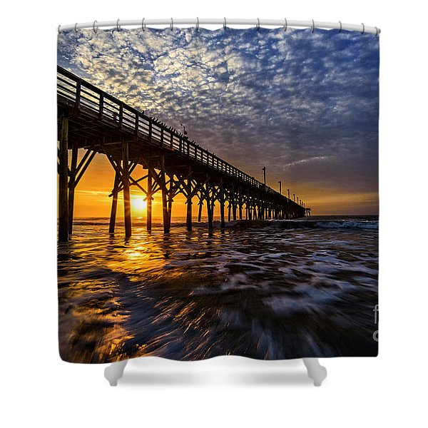 Sky Divided Shower Curtain