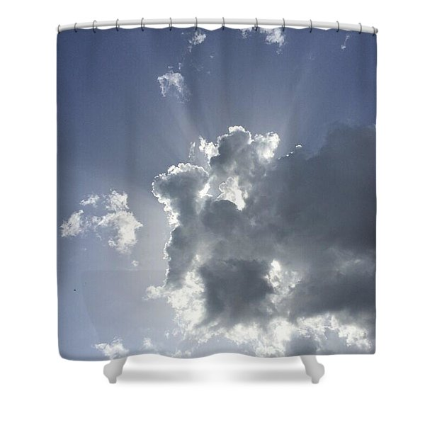Sky Elephant And Friends Shower Curtain