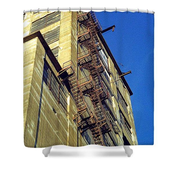 Sky High Warehouse Shower Curtain