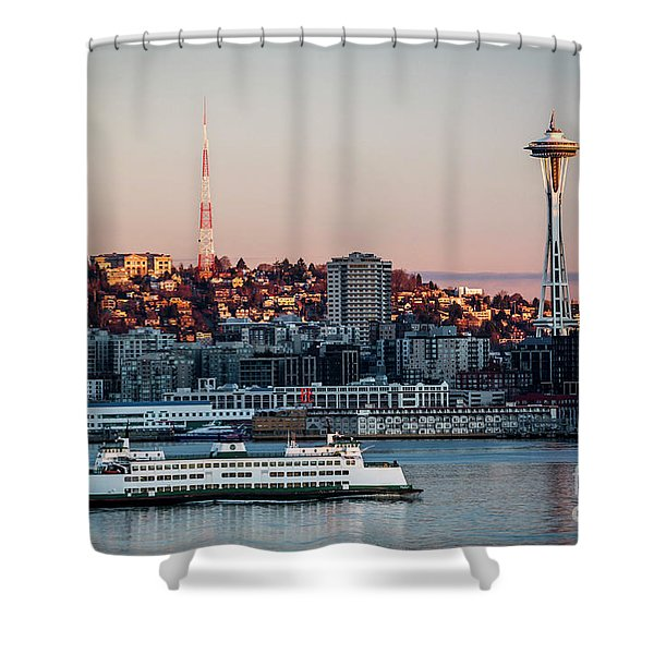 Space Needle.seattle,washington Shower Curtain