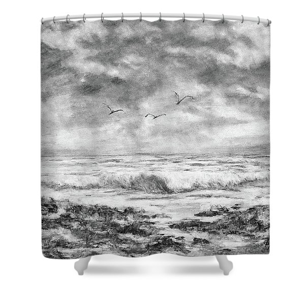 Sky Rocks And Water Shower Curtain