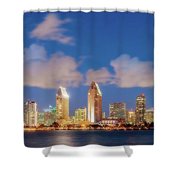 Skyline In The Wind Shower Curtain