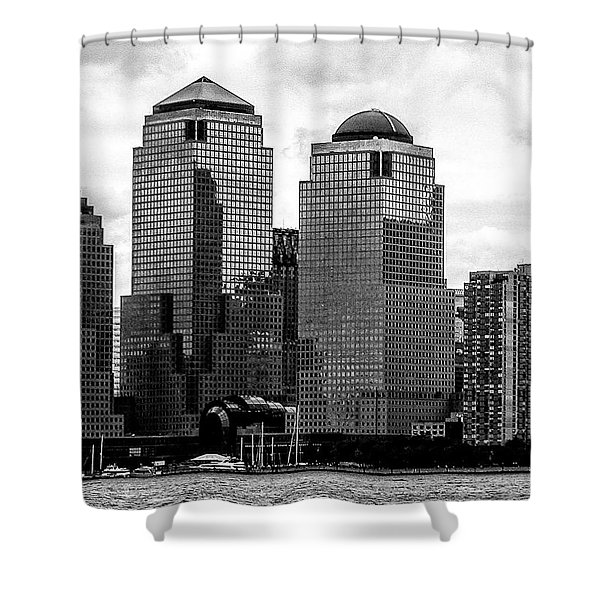 Skyline Nyc River View  Shower Curtain