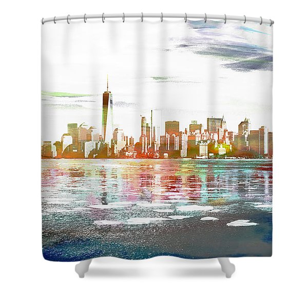 Skyline Of New York City, United States Shower Curtain