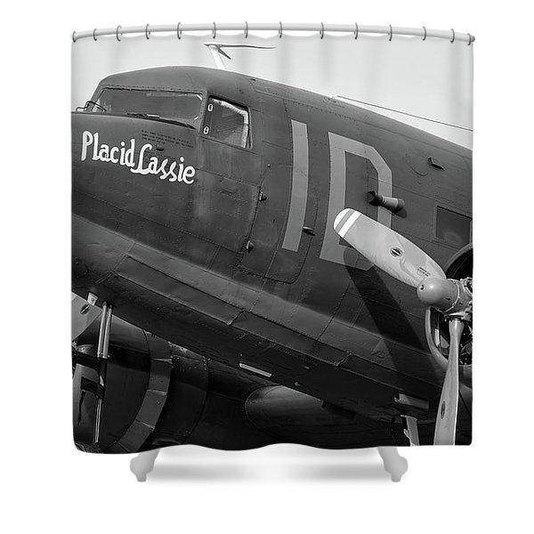 Skytrain In Black And White - 2017 Christopher Buff, Www.aviationbuff.,com Shower Curtain