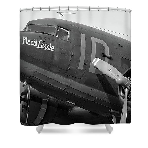 Skytrain In Black And White - 2017 Christopher Buff, Www.aviationbuff.,com Shower Curtain