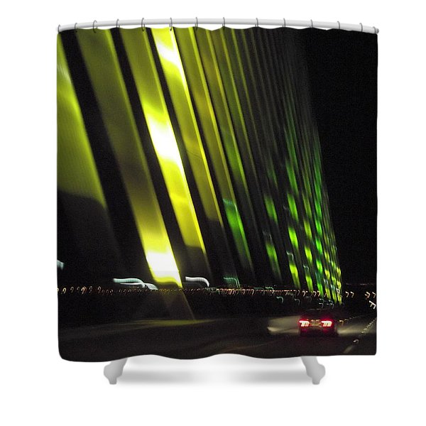 Skyway At Night 5559 Shower Curtain