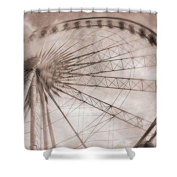 Skywheel In Niagara Falls Shower Curtain