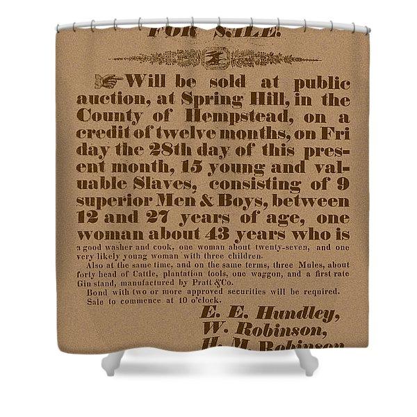 Slave Auction Shower Curtain