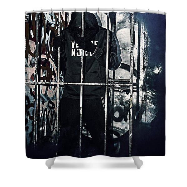 Slave To The City Shower Curtain