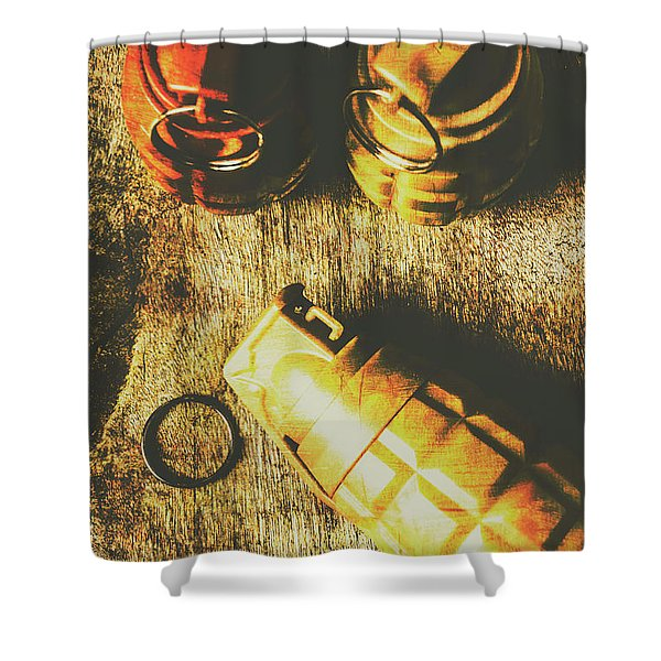 Sleeper Cell Marines Activated Shower Curtain