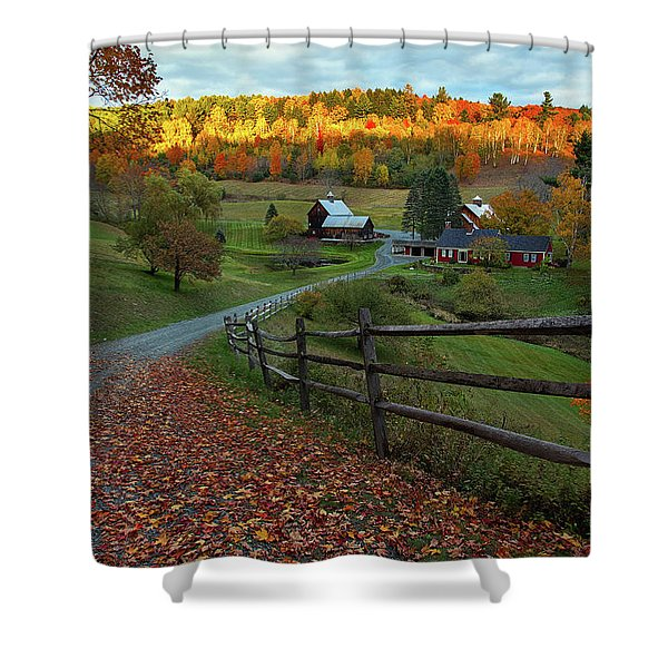 Sleepy Hollow Farm- Pomfret Vt Shower Curtain