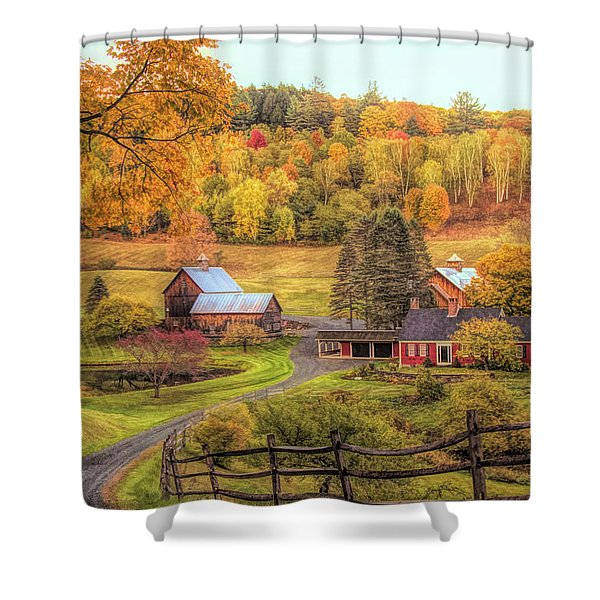 Sleepy Hollow - Pomfret Vermont In Autumn Shower Curtain