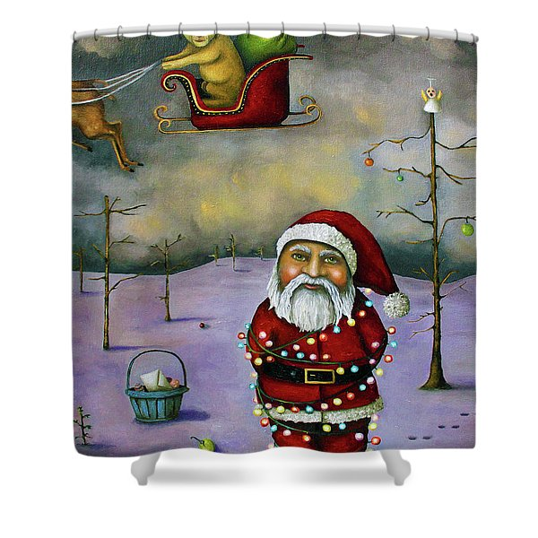 Sleigh Jacker Shower Curtain