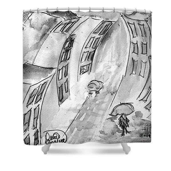 Slick City Shower Curtain