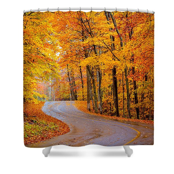 Slippery Color Shower Curtain