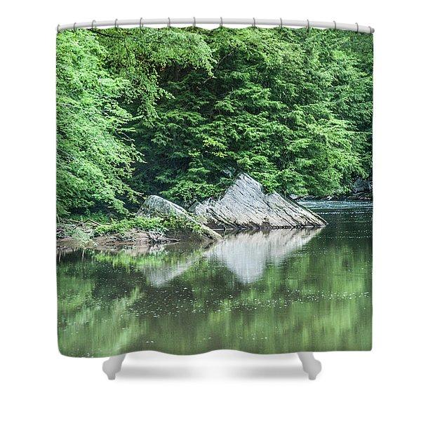 Slippery Rock Gorge - 1891 Shower Curtain