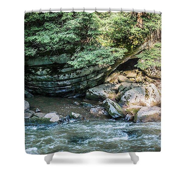 Slippery Rock Gorge - 1895 Shower Curtain