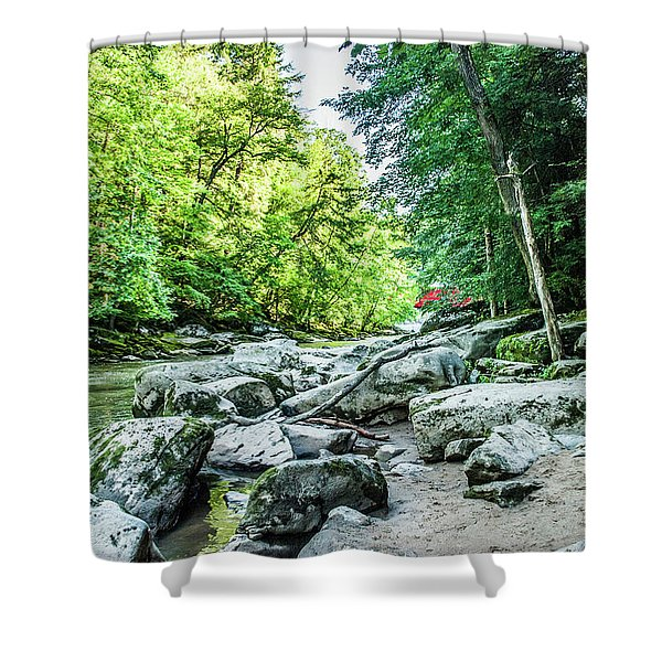 Slippery Rock Gorge - 1905 Shower Curtain