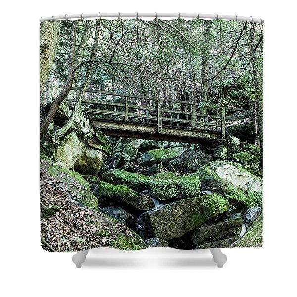 Slippery Rock Gorge - 1927 Shower Curtain