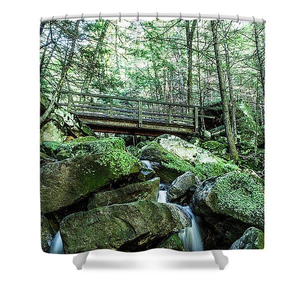 Slippery Rock Gorge - 1930 Shower Curtain