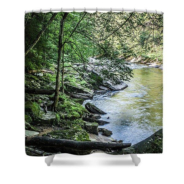 Slippery Rock Gorge - 1934 Shower Curtain
