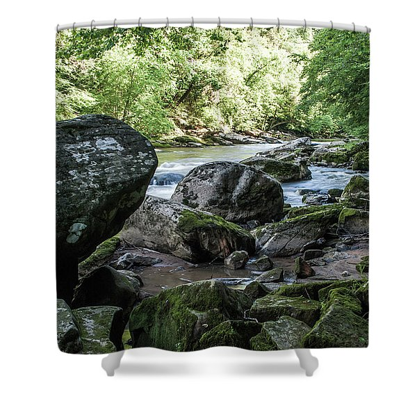 Slippery Rock Gorge - 1938 Shower Curtain