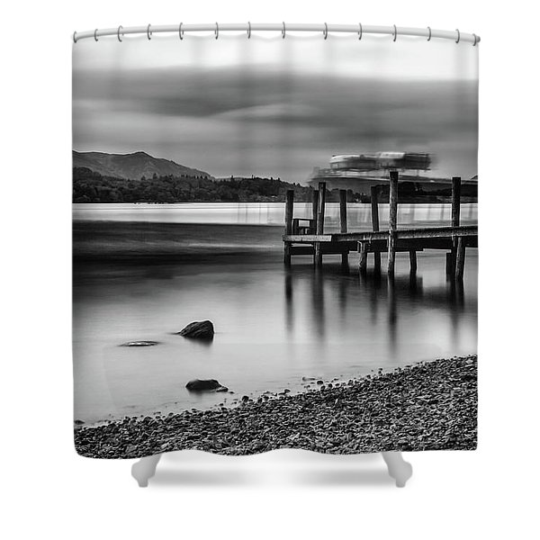 Slipping The Jetty Shower Curtain