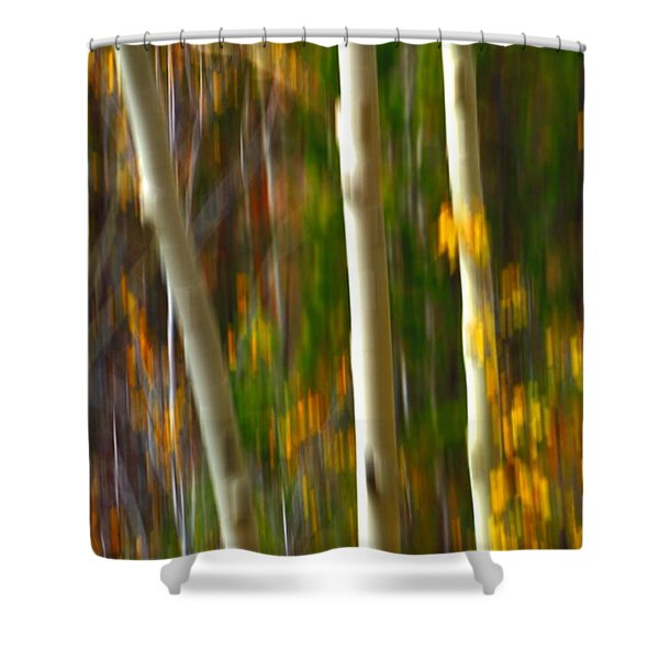 Slipping Through  Shower Curtain