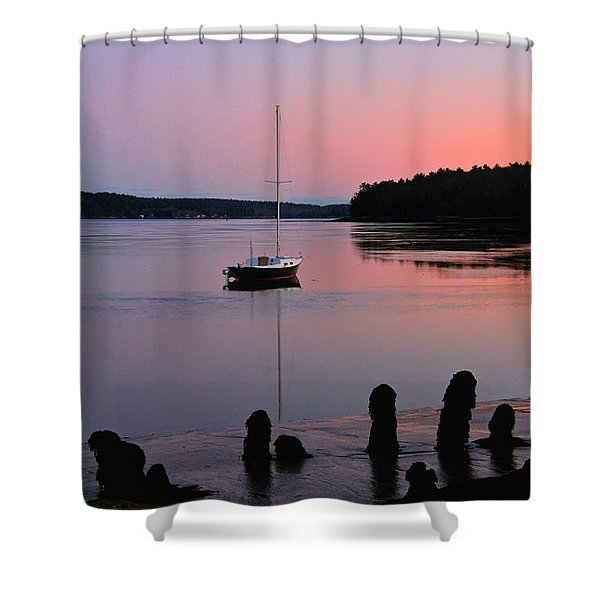 Sloop Sunset Shower Curtain