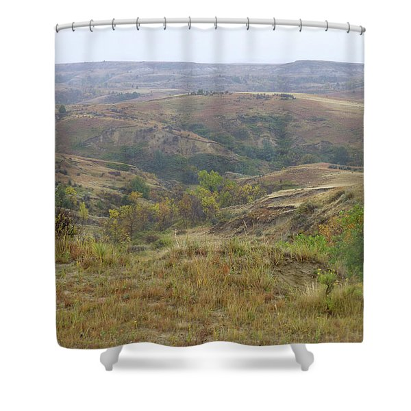 Shower Curtain featuring the photograph Slope County In The Rain by Cris Fulton