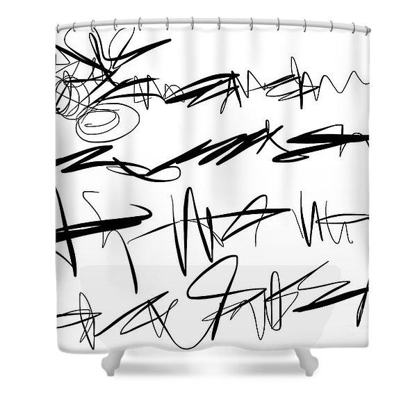 Sloppy Writing Shower Curtain