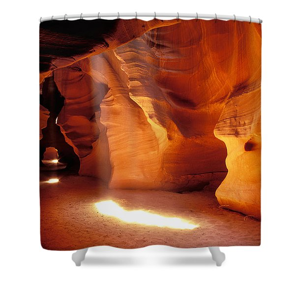 Slot Canyon Warm Light Shower Curtain