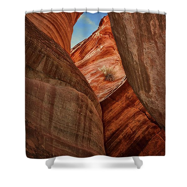 Slot Canyon - Window Shower Curtain