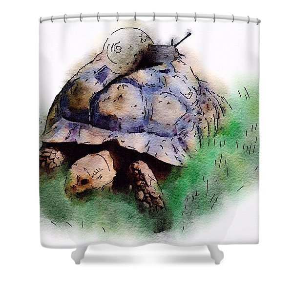 Slow Down You Will Kill Us Both Shower Curtain