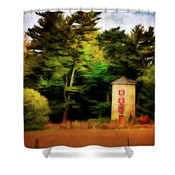 Small Autumn Silo Shower Curtain