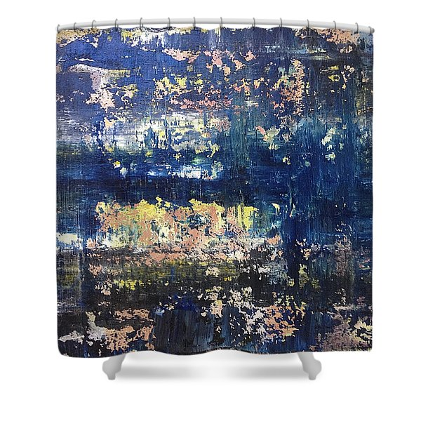 Small Blue Shower Curtain