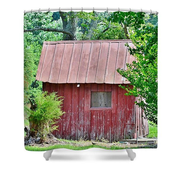 Small Red Barn - Lewes Delaware Shower Curtain