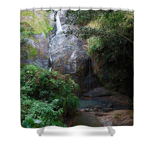 Small Waterfall Shower Curtain