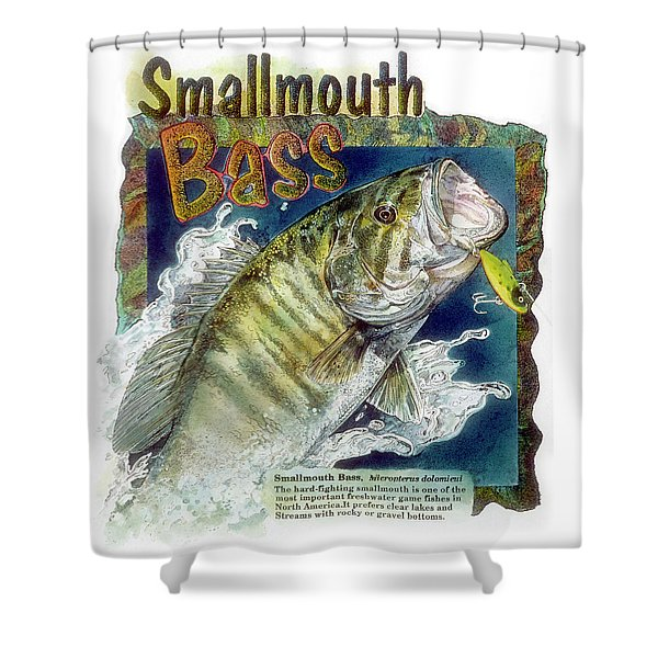 Smallmouth Bass Shower Curtain