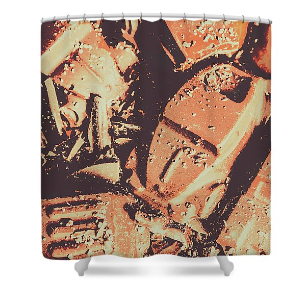 Smashing Party Shower Curtain