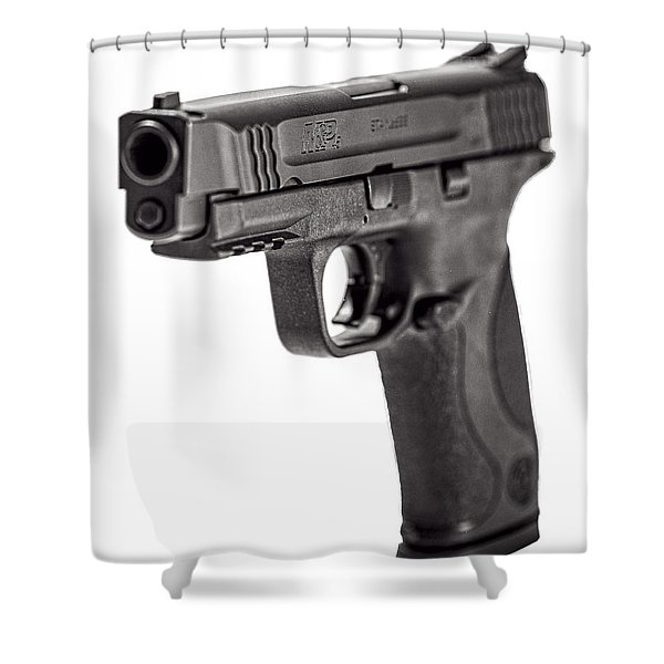 Smith And Wesson Handgun Shower Curtain