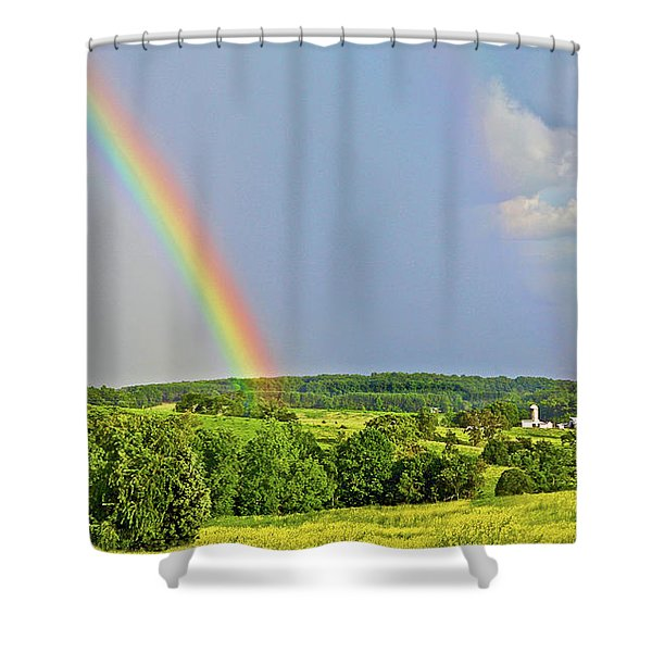 Smith Mountain Lake Rainbow Shower Curtain
